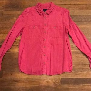 AE Super Soft Pink Chambray button down